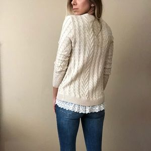 {Monteau} sweater with lace
